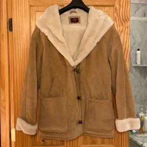Vintage Leather Winter Coat